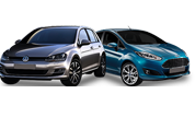 Test car: Ford Fiesta, VW Golf